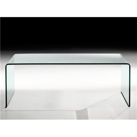 Coffee table with curved glass Garbis 110 cm