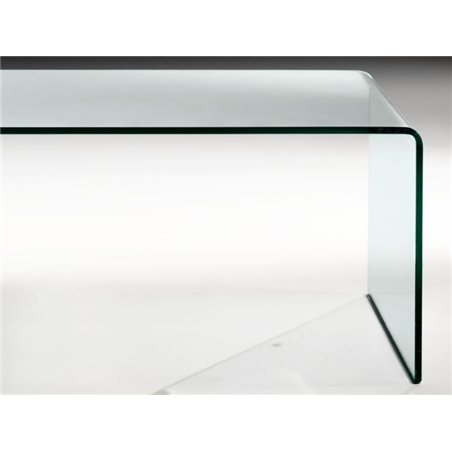 Taula de centre cristall corbat Garbis 110 cm