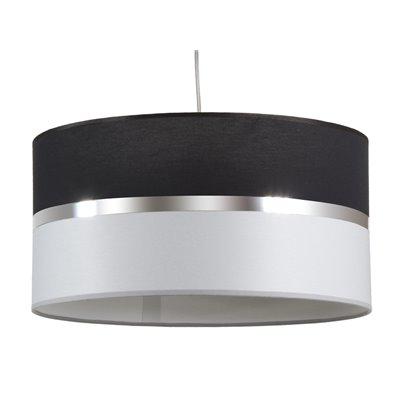 Lámpada teito negra e gris
