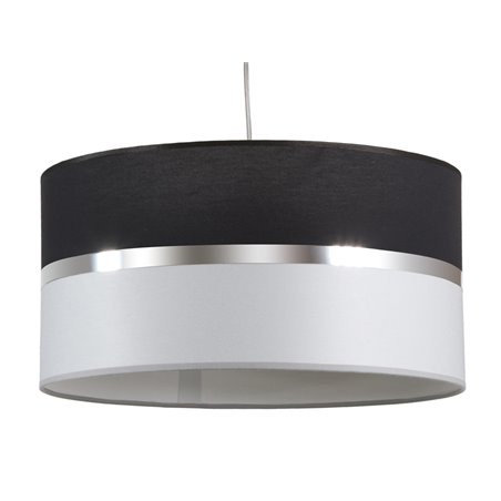 Lámpara techo negra y gris