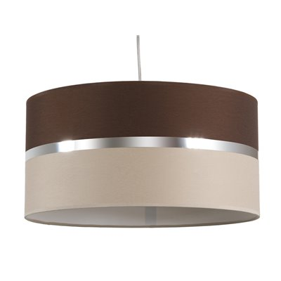 Wenge/sand ceiling lamp