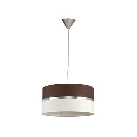 Lámpada teito wengue e loneta