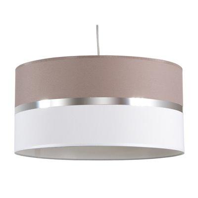 Lámpada teito cinza e branca