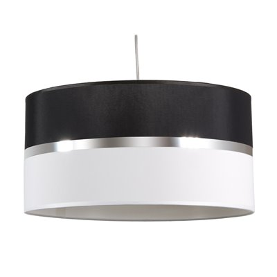 Black and white ceiling lamp