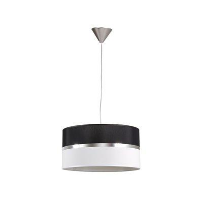 Lámpada teito negra e branca