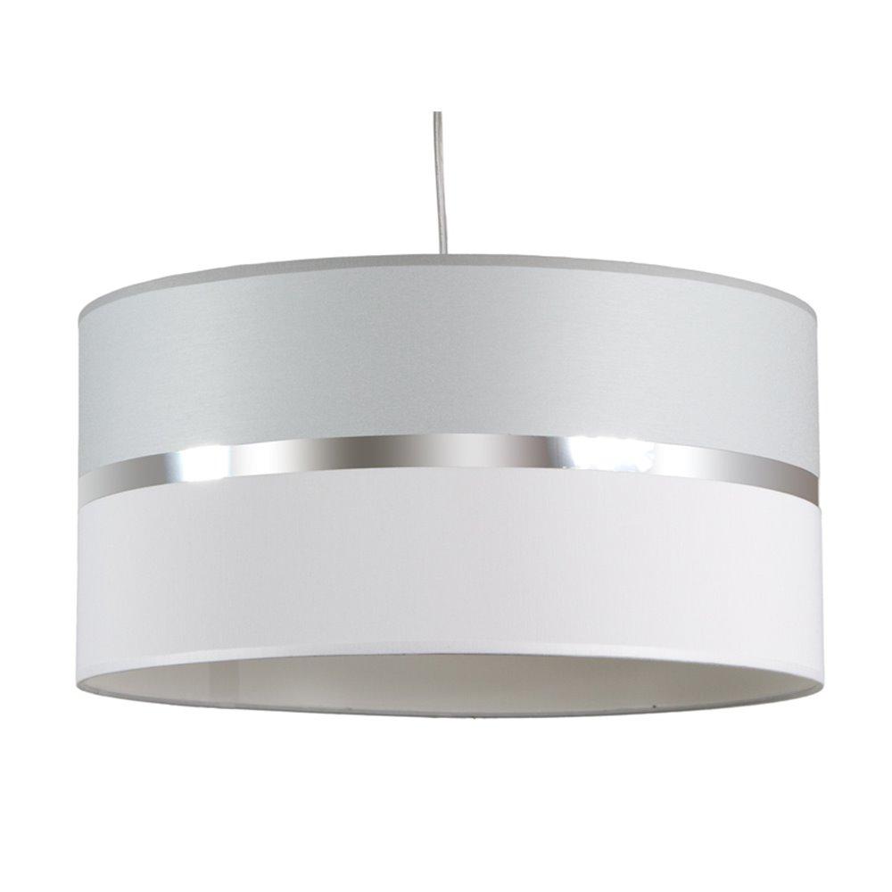 Lámpada teito gris e branca