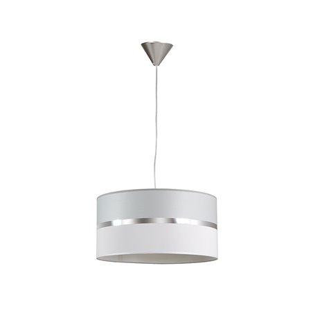 Lámpara techo gris y blanca