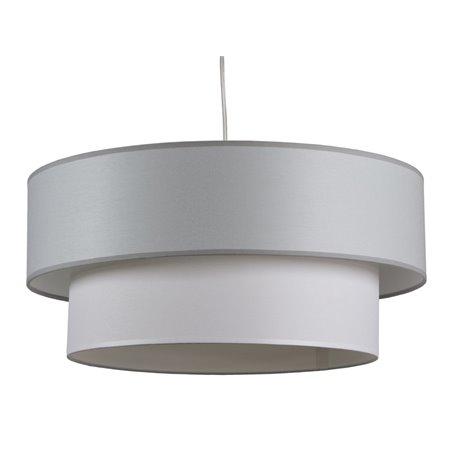 Lámpada teito dobre pantalla