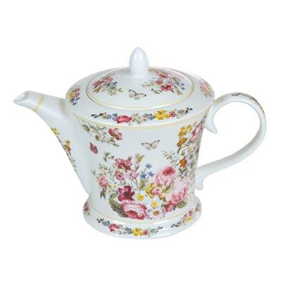 Weiße Porzellan Teekanne Bloom