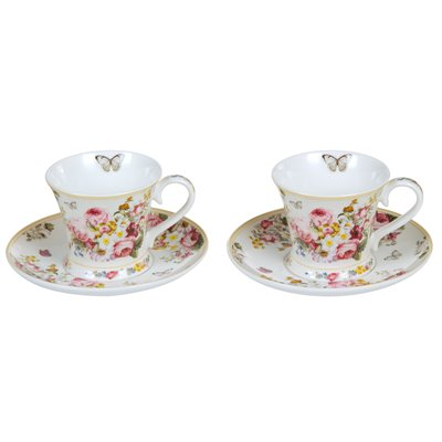 Set 2 tazas con plato Bloom