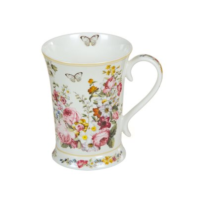 Weiße Porzellan Tasse Bloom