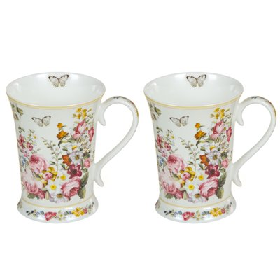 Set 2 tazas Bloom White