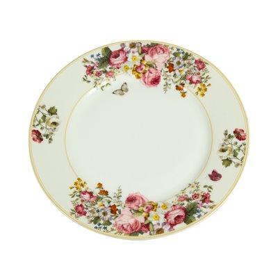 Bloom White dinner plate