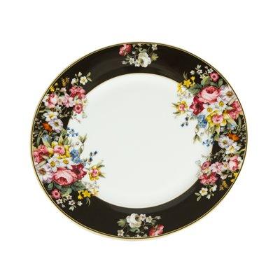 Bloom Black shallow dish