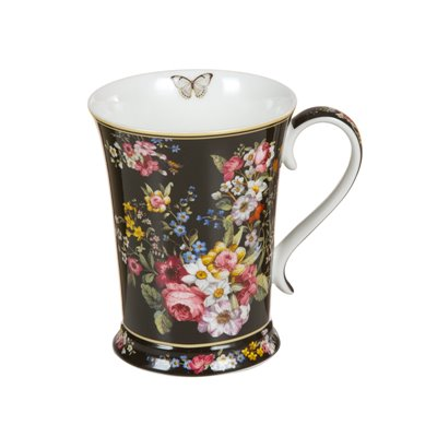 Taza porcelana Bloom Black