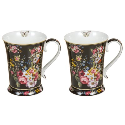 Set 2 tazas Bloom Black