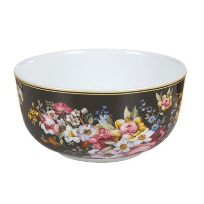 Bloom Black porcelain bowl