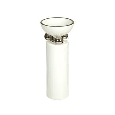 Silberne Vase weiß
