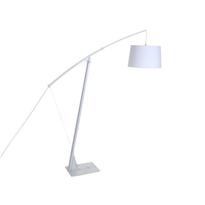 Lámpara de pie blanca