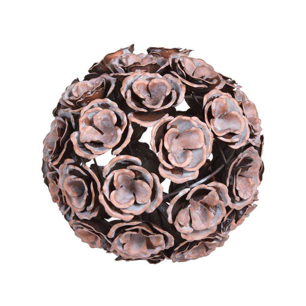 Bola metal flor color cobre envejecido
