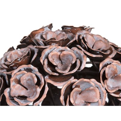 Bola metall flor color cobre envellit