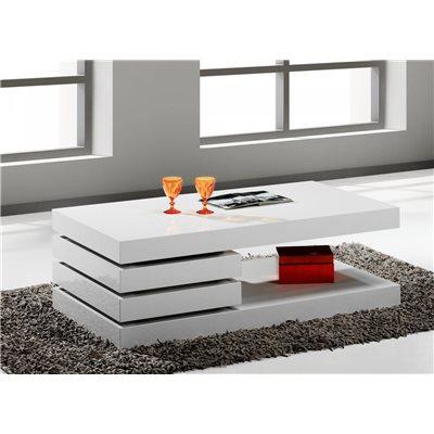 Mesa de centro blanca con dos cajones Vesela 110 cm
