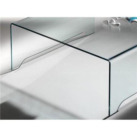 Taula de centre de cristall corbat transparent Amarina 100 cm