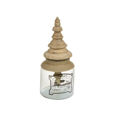 Caja de cristal con tapa de madera