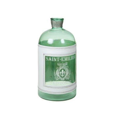 Jarrón botella transparente