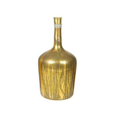 Golden bottle vase
