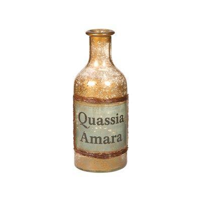 Vase amber bottle
