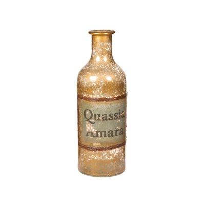 Jarrón botella ámbar
