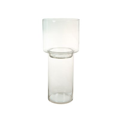 Bougeoir verre transparent