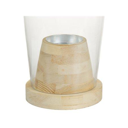 Pitxer de cristall amb fusta