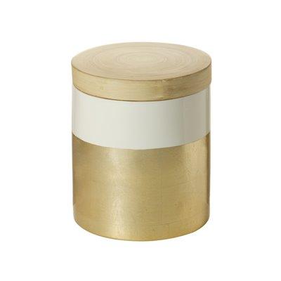 Caja con tapa bambú