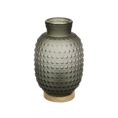 Lámpara de cristal gris