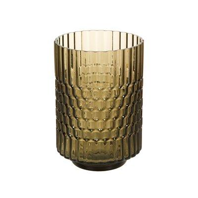 Vaso de vidro marrom