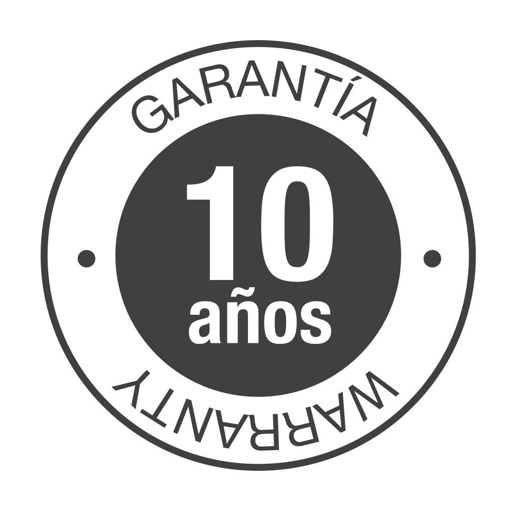 10 años de garantía*