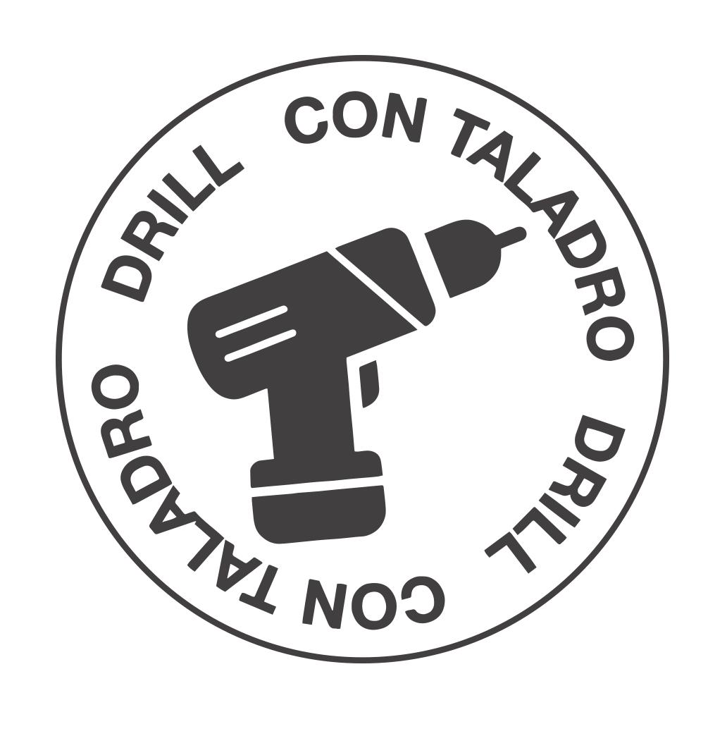 Instalación con Taladro